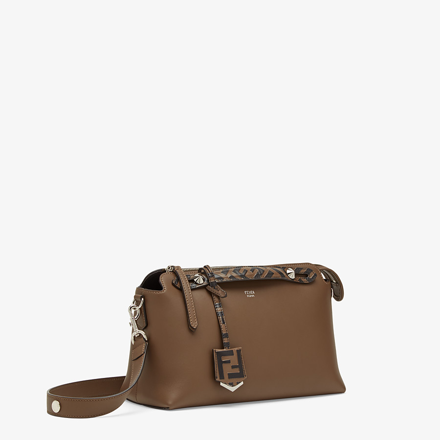 FENDI BY THE WAY MEDIUM - Brown leather Boston bag - view 3 detail