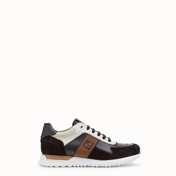 FENDI SNEAKERS - Multicolor leather sneakers - view 1 small thumbnail