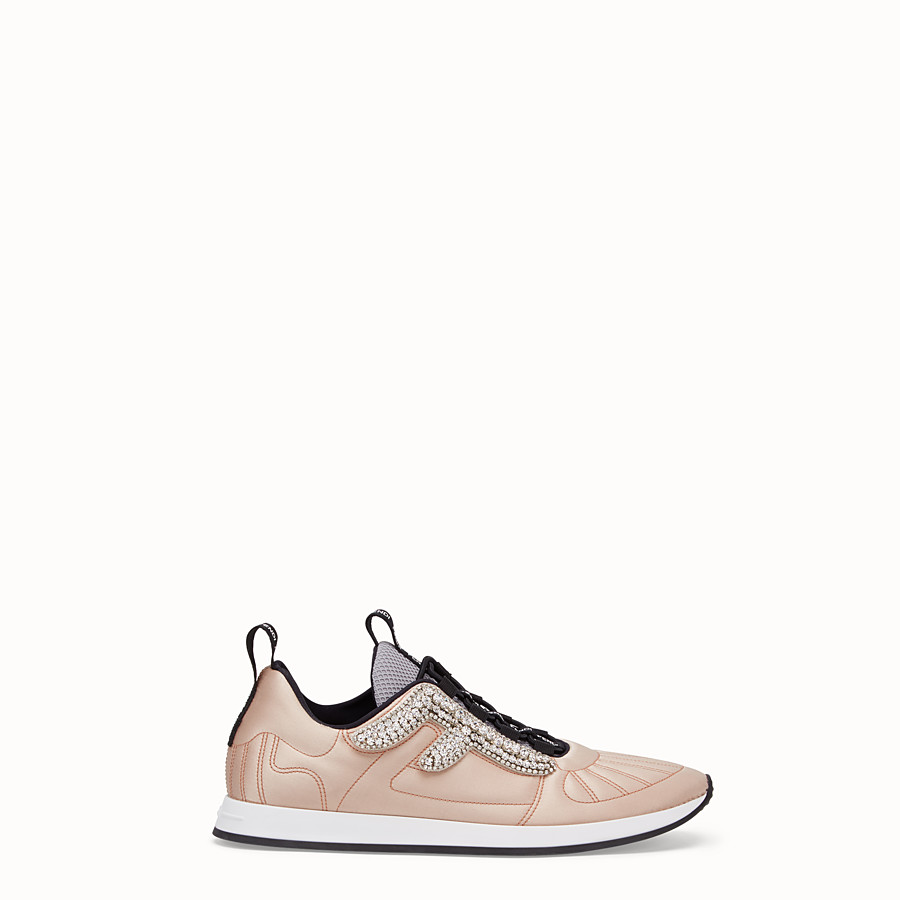 FENDI SNEAKERS - Pink satin sneakers - view 1 detail