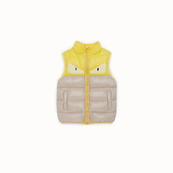 FENDI FEATHER VEST - Padded vest with Fendi monster eyes - view 1 small thumbnail