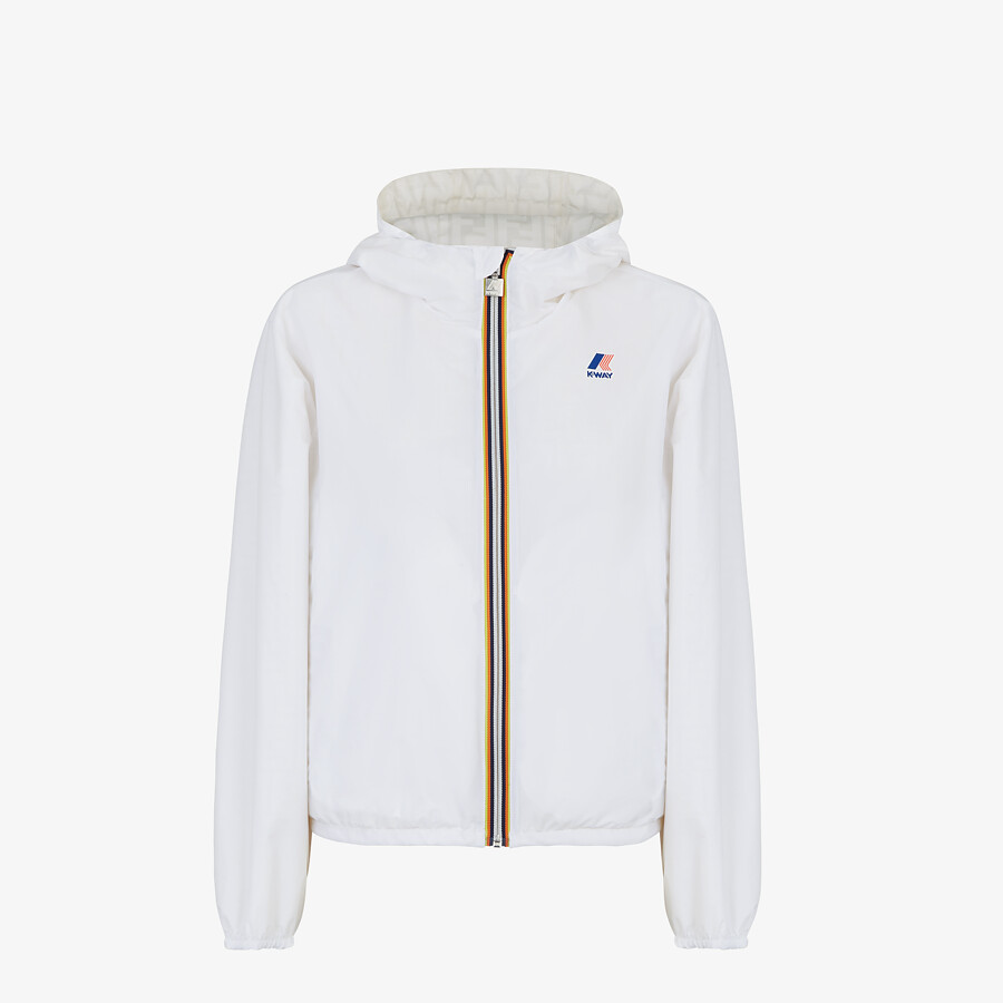 FENDI WINDBREAKER - White nylon FENDI x K-Way® jacket - view 4 detail