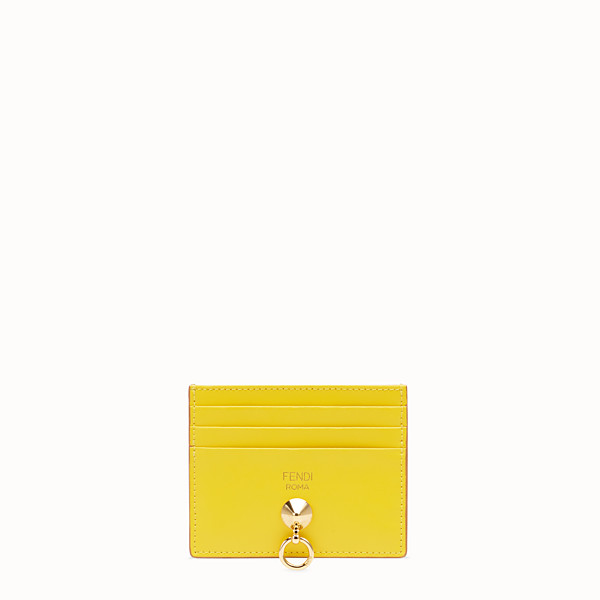 FENDI CARD HOLDER - Flat multicolour leather card holder - view 1 small thumbnail