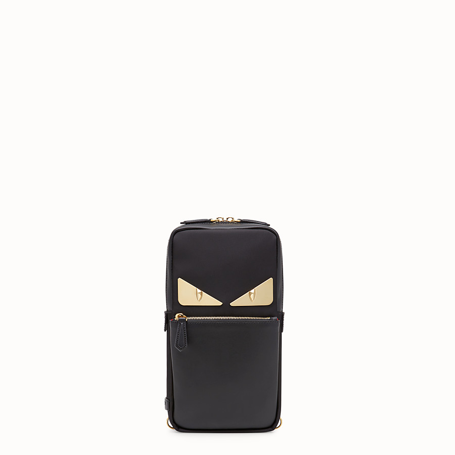 FENDI BELT BAG - Black nylon one-shoulder backpack - view 1 detail