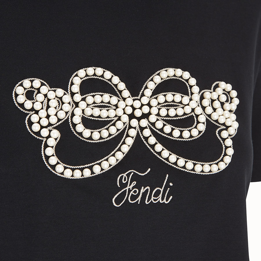 FENDI TOP - Black jersey T-shirt - view 4 detail