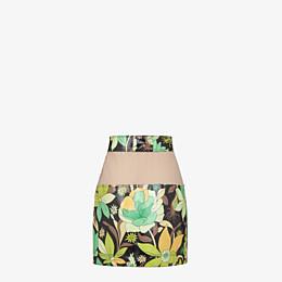 FENDI SKIRT - Multicolour cotton skirt - view 2 thumbnail
