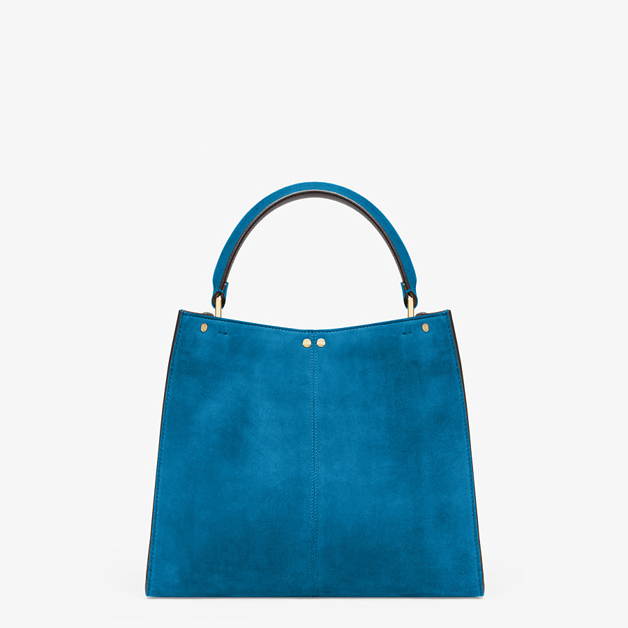 FENDI PEEKABOO X-LITE MEDIUM - Blue suede bag - view 4 detail
