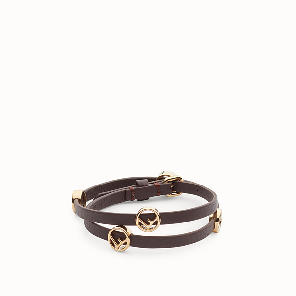 FENDI F IS FENDI BRACELET - Brown bracelet-choker - view 1 small thumbnail