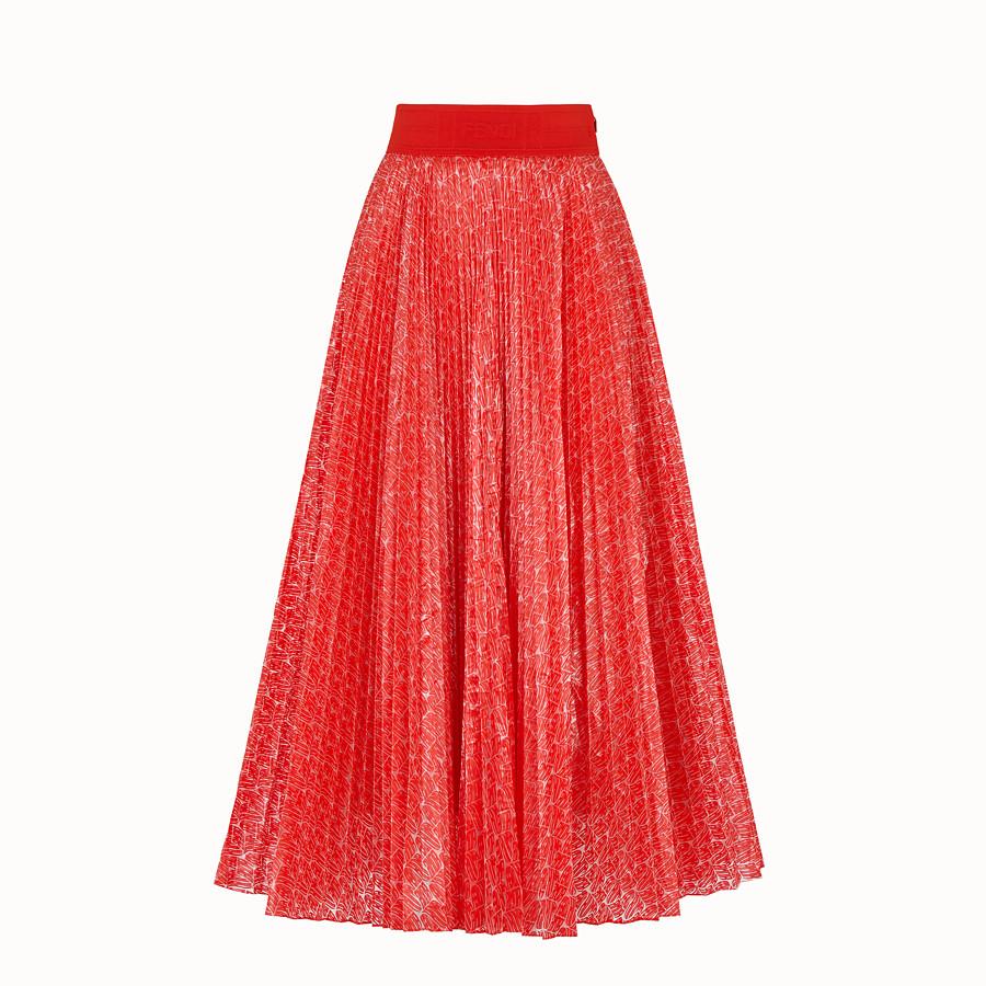 FENDI SKIRT - Fendi Roma Amor nylon skirt - view 1 detail