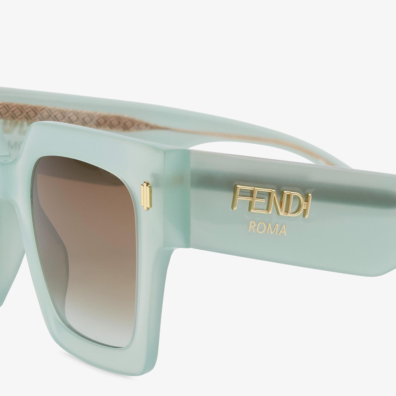 FENDI FENDI ROMA - Green acetate sunglasses - view 3 detail