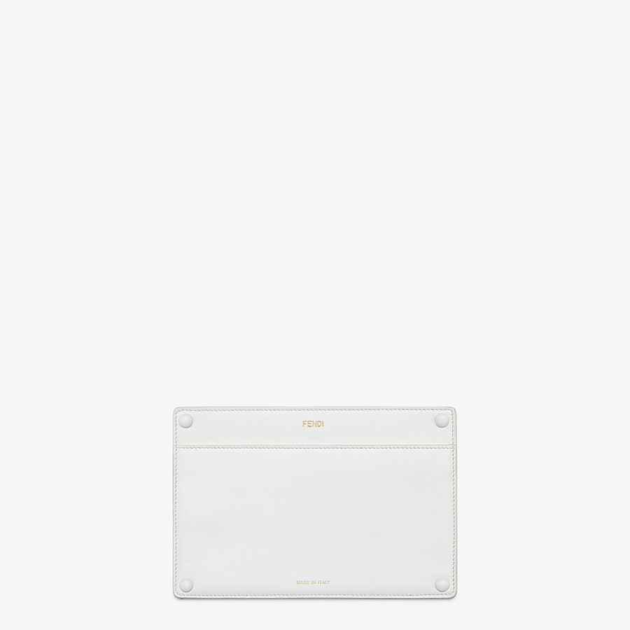 FENDI PEEKABOO ISEEU POCKET - White leather accessory pocket - view 1 detail