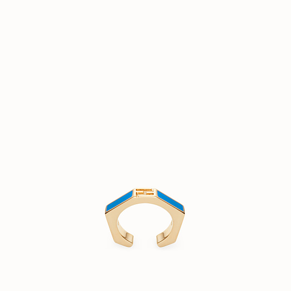 FENDI BAGUETTE RING - Ring Emailliert in Blau - view 1 small thumbnail
