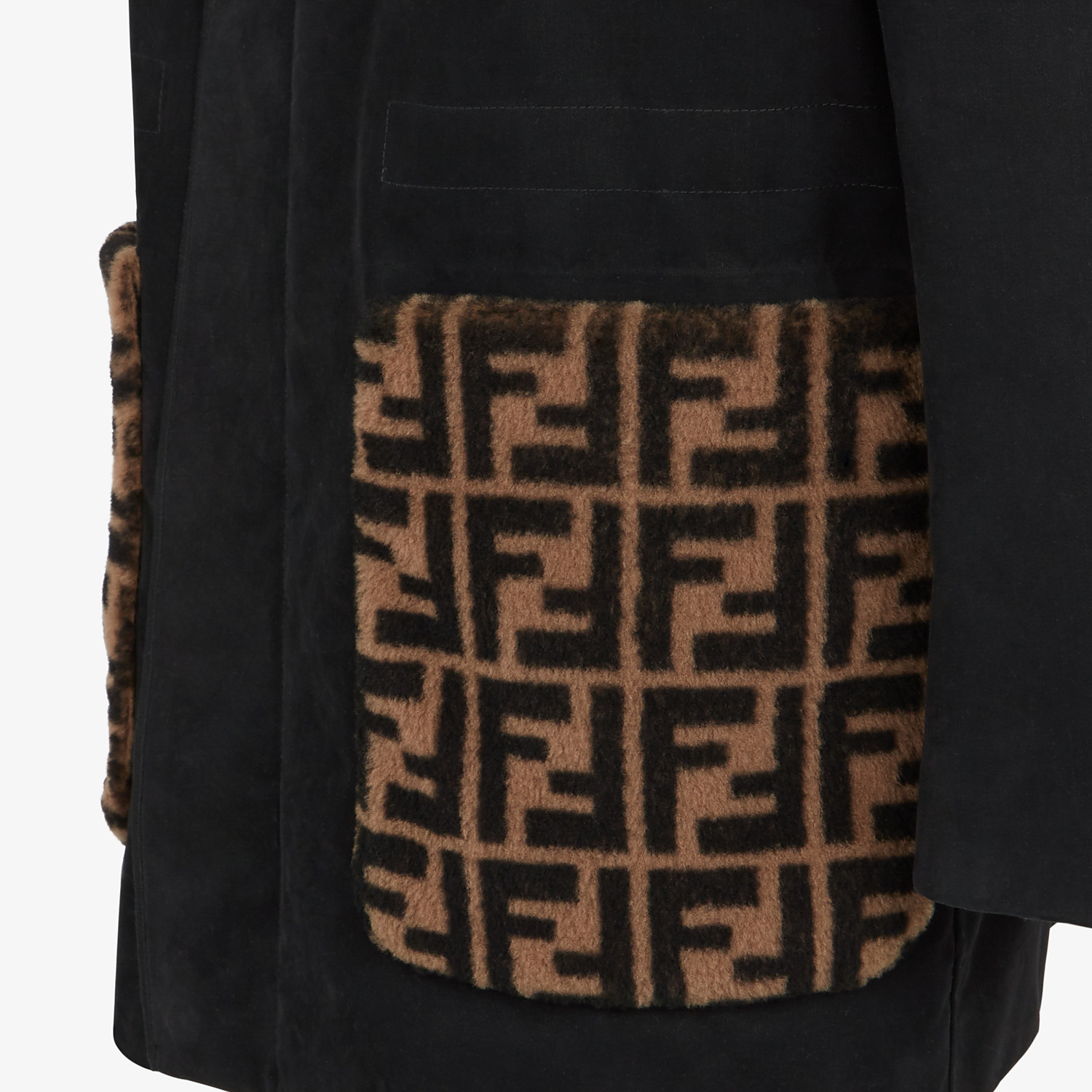 FENDI PARKA - Black cotton parka - view 4 detail