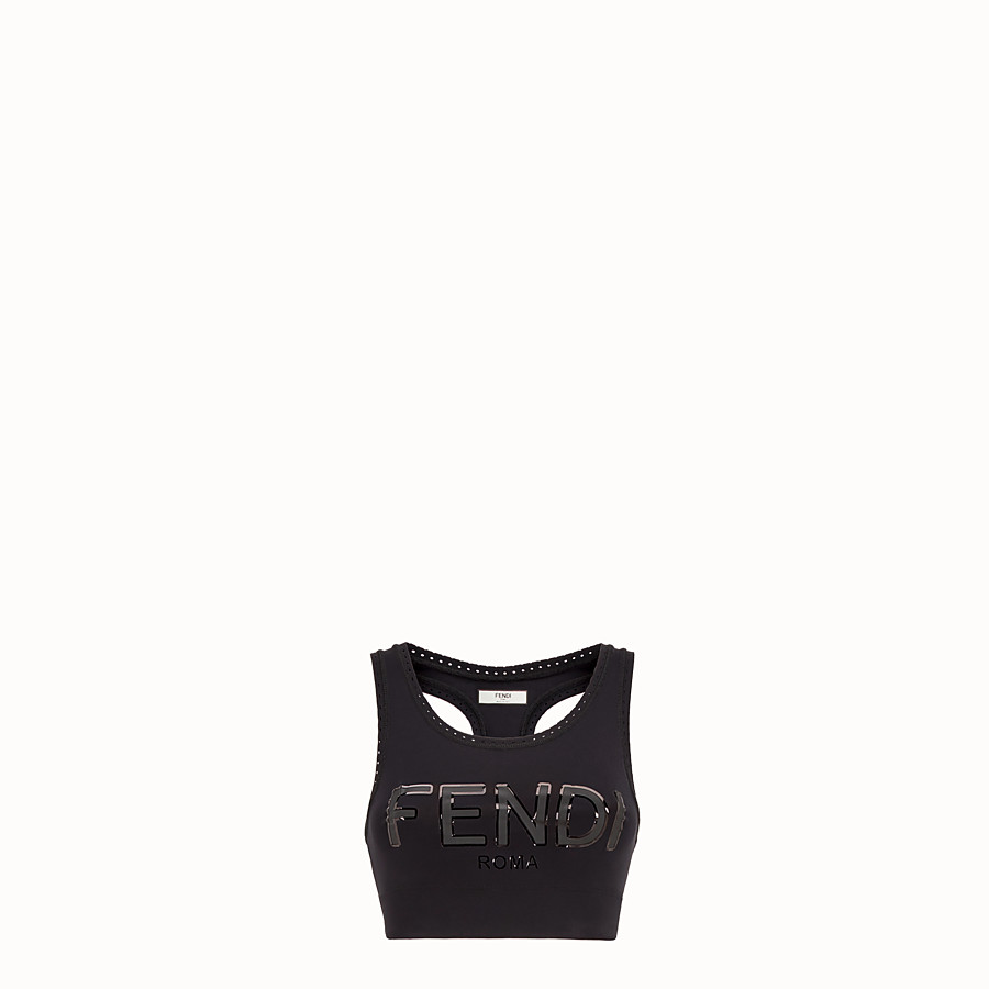 FENDI TOP - Black tech fabric top - view 1 detail