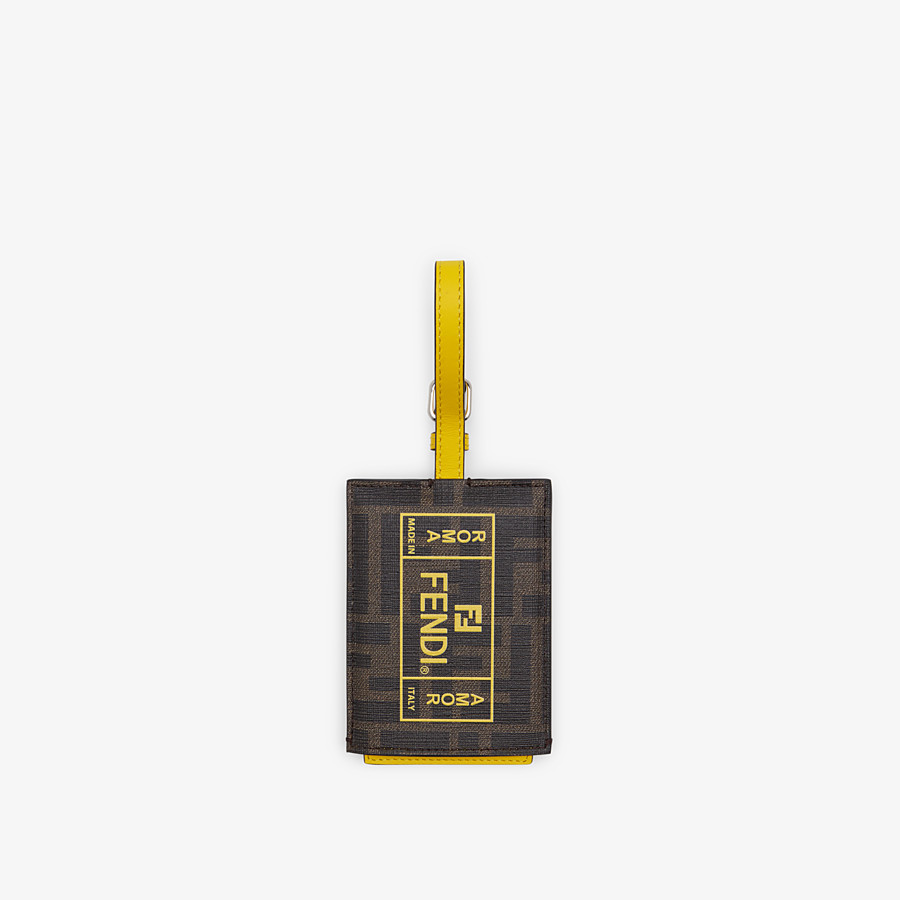 FENDI ADDRESS CARD - Yellow PU travel tag - view 1 detail