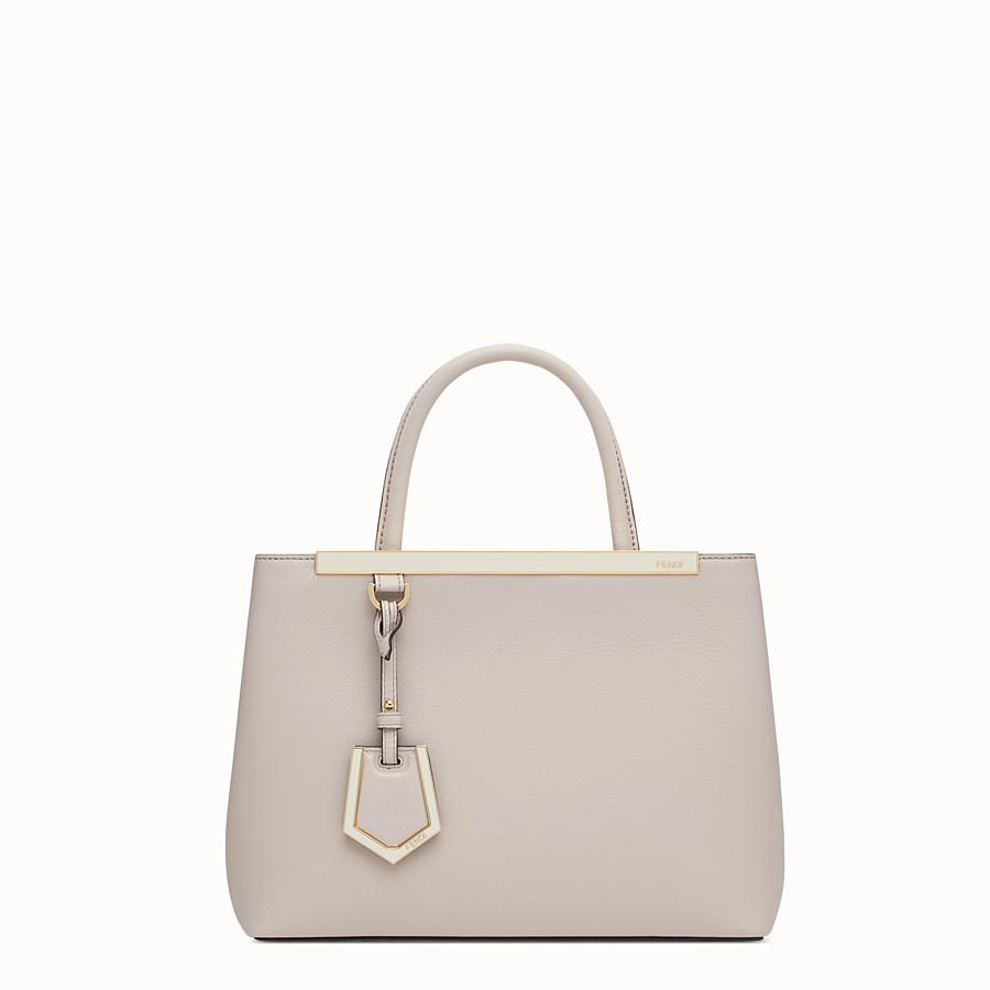 FENDI PETITE 2JOURS - 粉末灰色皮革購物袋 - view 1 detail