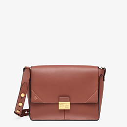 FENDI KAN U LARGE - Red leather bag - view 1 thumbnail