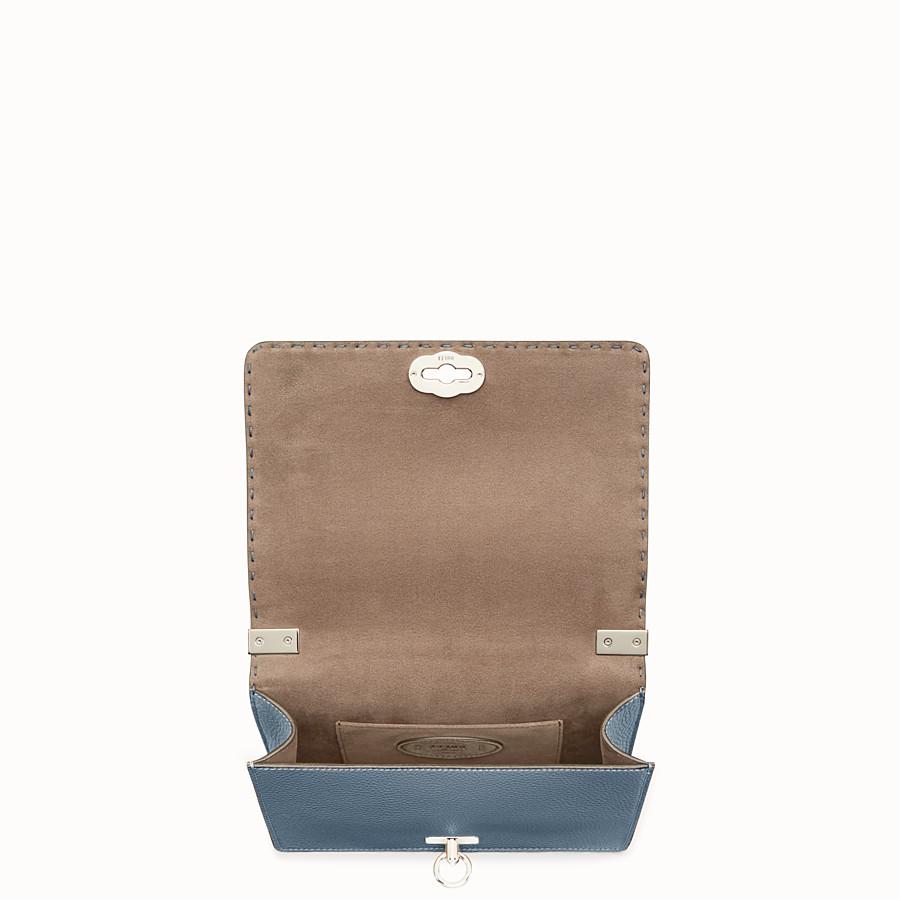 FENDI 信差包 - 藍色皮革手袋 - view 4 detail