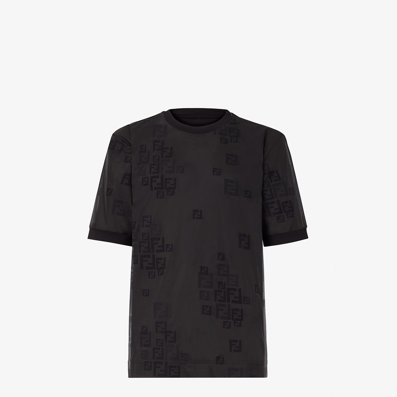FENDI T-SHIRT - Black organza T-shirt - view 1 detail