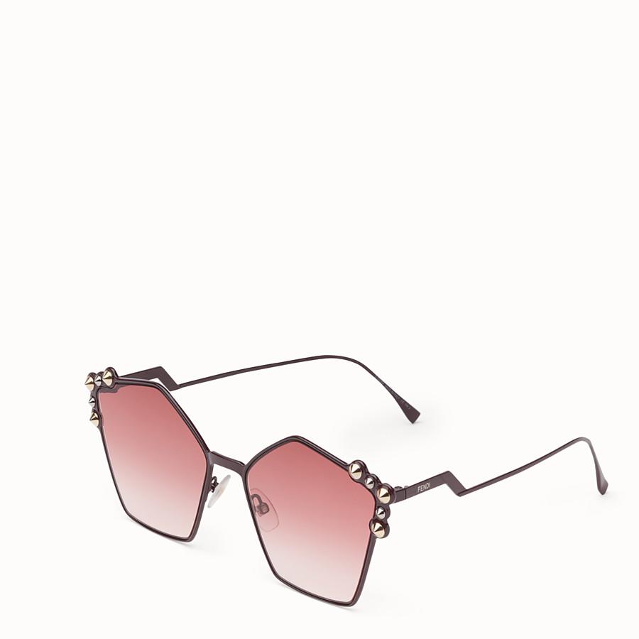 FENDI CAN EYE - Purple sunglasses - view 2 detail