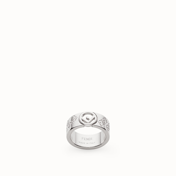 FENDI FF RING - Silver coloured ring - view 1 small thumbnail