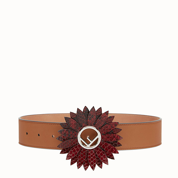 FENDI DAISY BELT - Natural-colour leather belt - view 1 small thumbnail