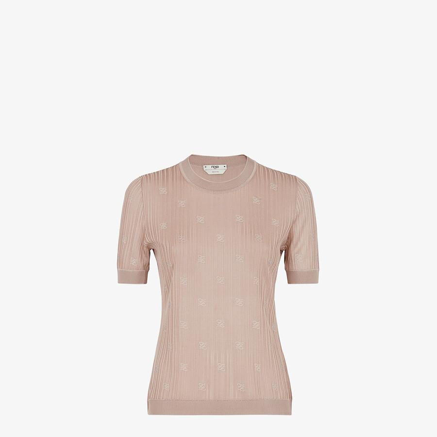 FENDI SWEATER - Pink viscose sweater - view 1 detail