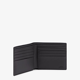 FENDI PORTEMONNAIE - Bifold-Portemonnaie aus schwarzem Leder - view 3 thumbnail