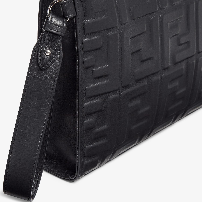 FENDI FLAT POUCH - Black nappa leather pouch - view 5 detail