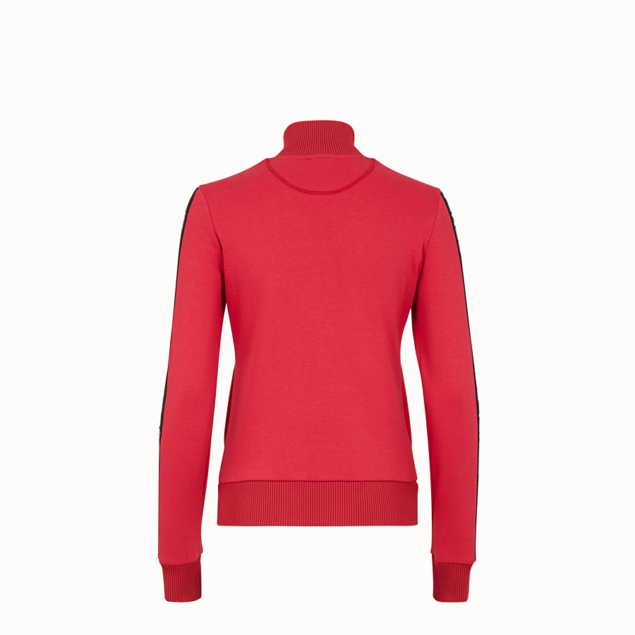 FENDI SWEATSHIRT - Red fabric sweatshirt - view 2 detail