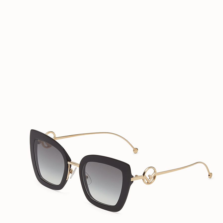 FENDI F IS FENDI - Black acetate and metal sunglasses - view 2 detail