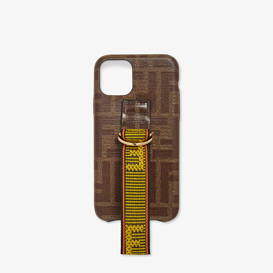 FENDI SMARTPHONE CASE - Brown fabric case - view 1 detail