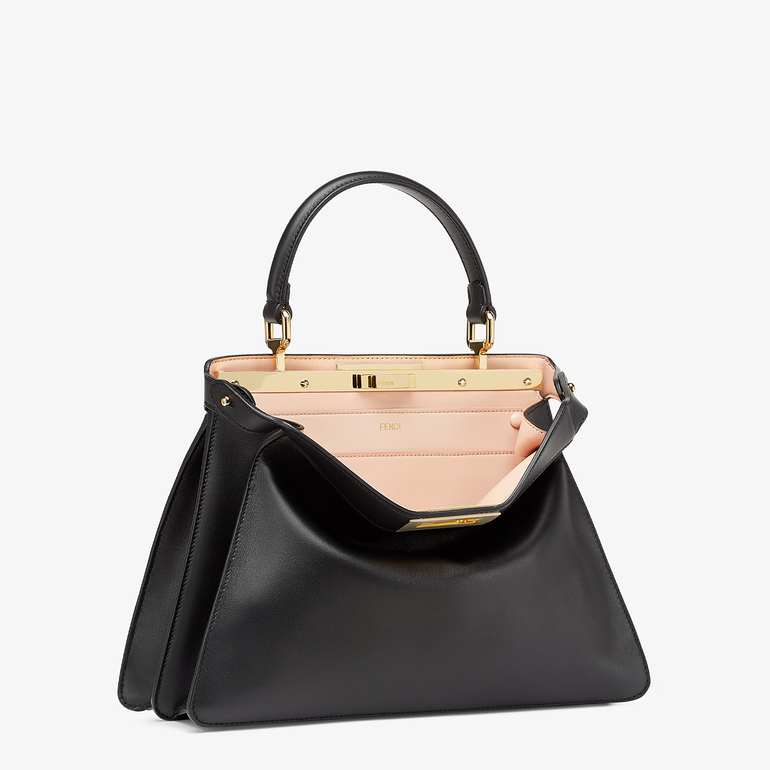 FENDI PEEKABOO ISEEU MEDIUM - Black leather bag - view 5 detail