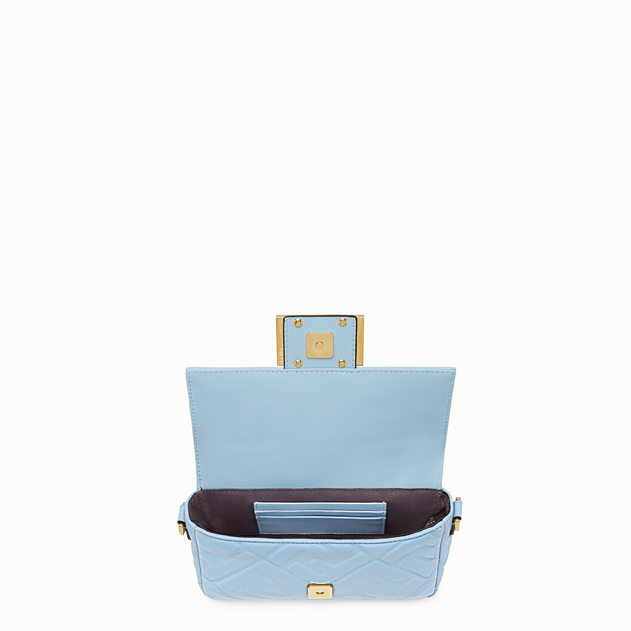 FENDI BAGUETTE - Light blue nappa leather bag - view 5 detail