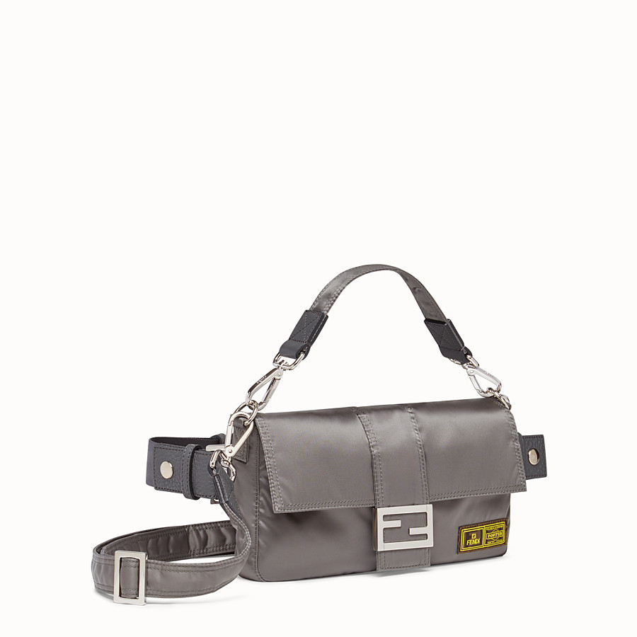 FENDI BAGUETTE FENDI AND PORTER - Silver colour nylon bag - view 2 detail