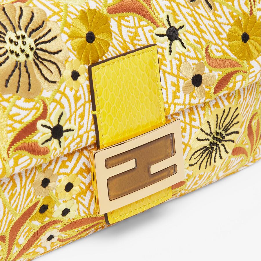FENDI BAGUETTE 1997 - FF Vertigo jacquard bag with embroidery - view 5 detail