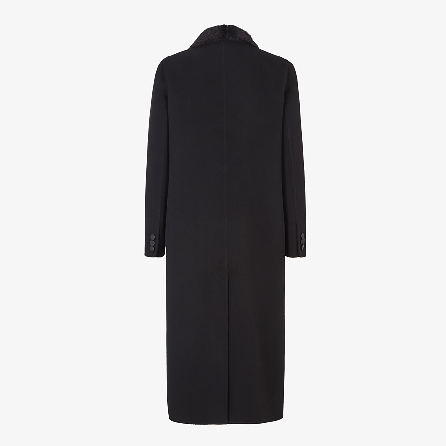 FENDI OVERCOAT - Black cashmere coat - view 2 detail