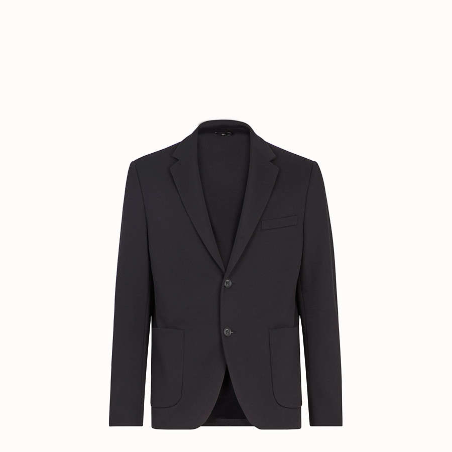 FENDI JACKET - Black cotton jersey blazer - view 4 detail