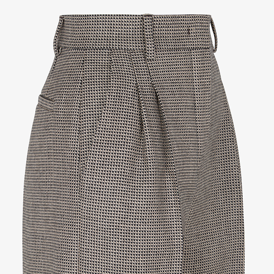 FENDI PANTS - Brown wool pants - view 3 detail