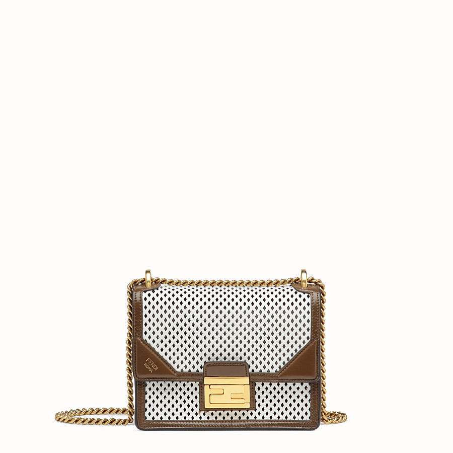 FENDI KAN U SMALL - White leather minibag - view 1 detail