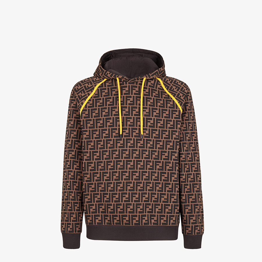 FENDI SWEATSHIRT - Brown cotton sweatshirt - view 1 detail