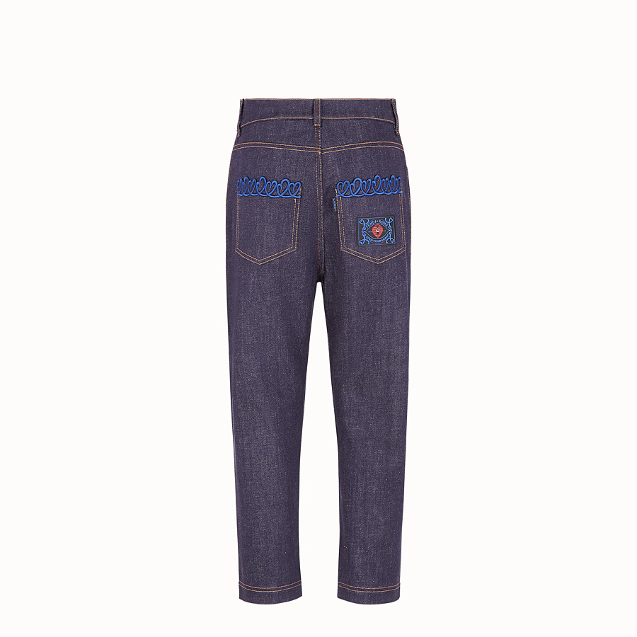 FENDI HOSE - Hose aus Denim in Blau - view 2 detail