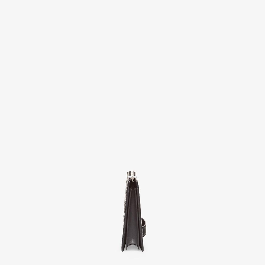 FENDI CLUTCH - Pochette aus Leder in Braun - view 2 detail