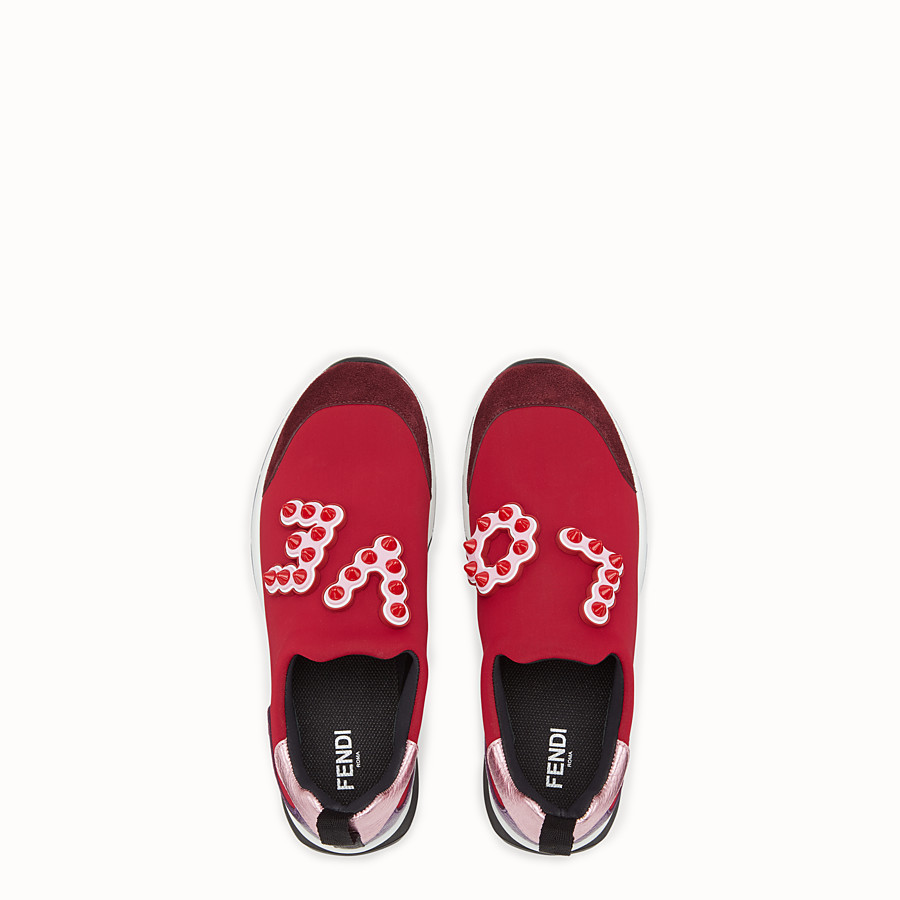 FENDI SNEAKERS - Sneakers in red technical fabric - view 4 detail