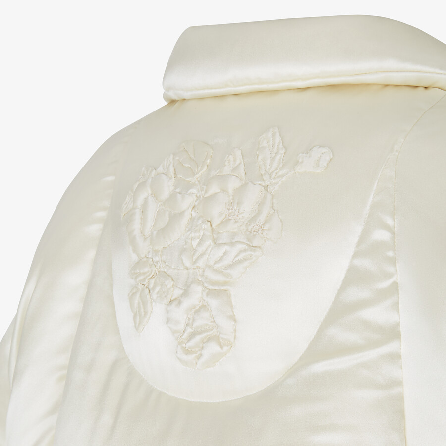 FENDI SHIRT - White satin shirt - view 4 detail