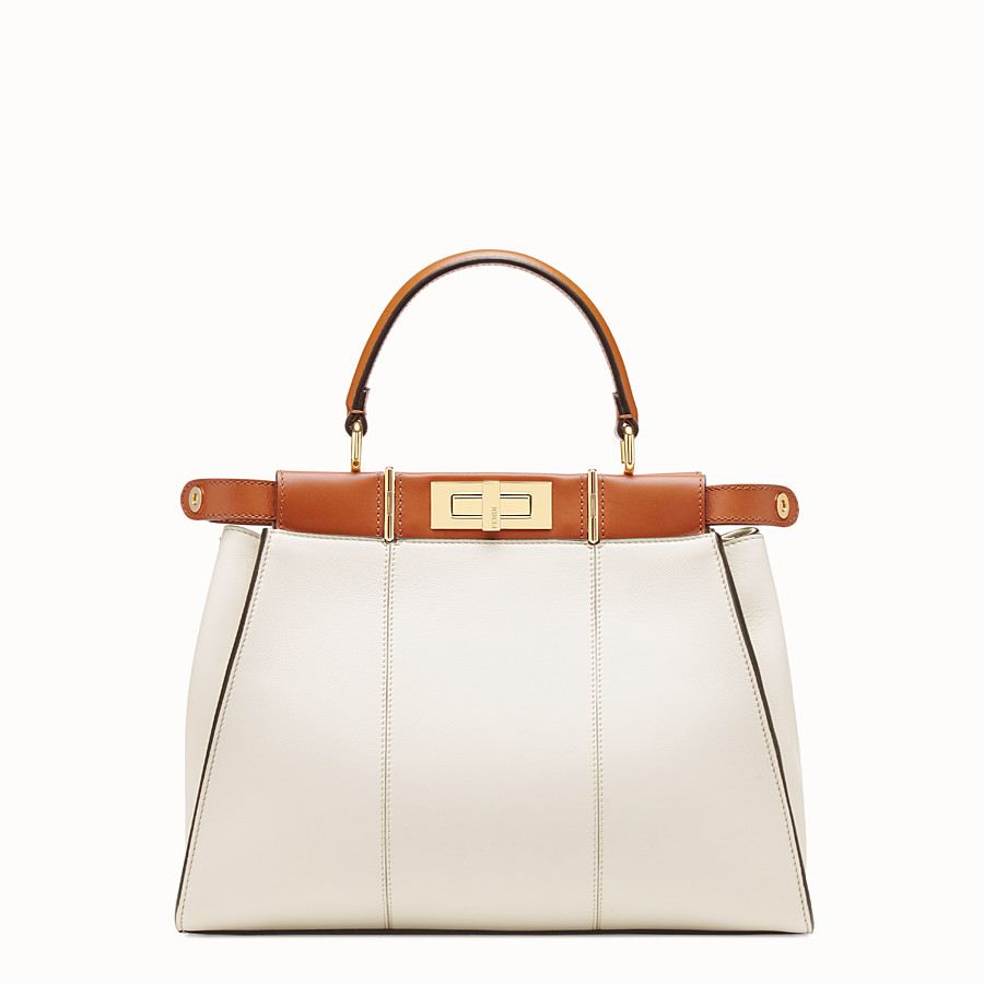 FENDI PEEKABOO ICONIC MEDIUM - White leather bag - view 3 detail