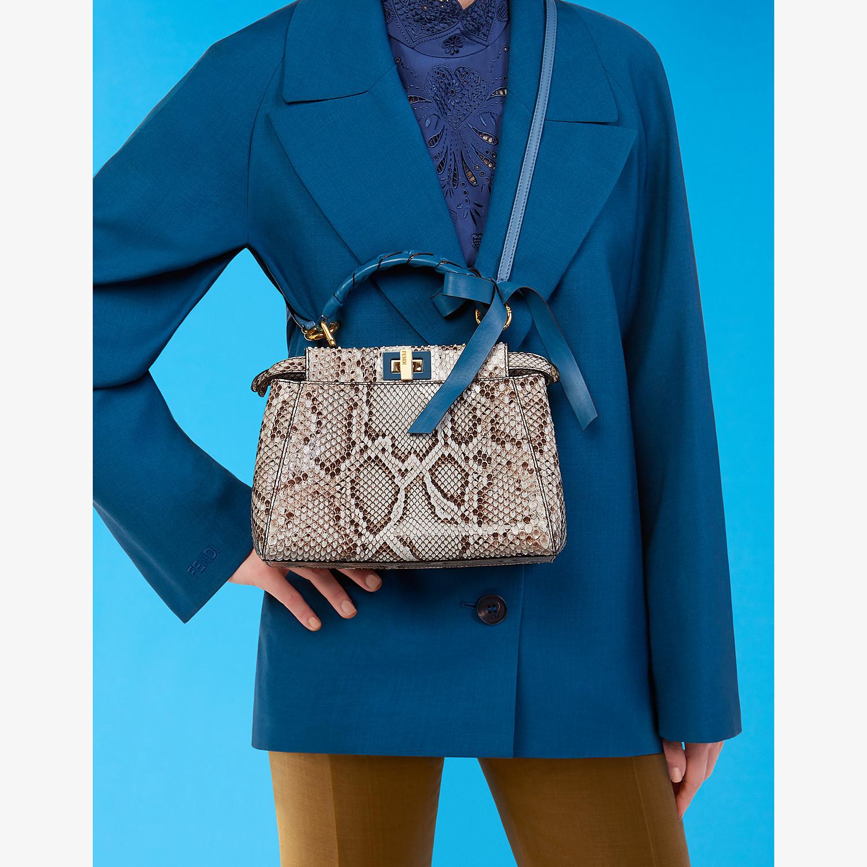 FENDI PEEKABOO ICONIC MINI - Gray python bag - view 2 detail