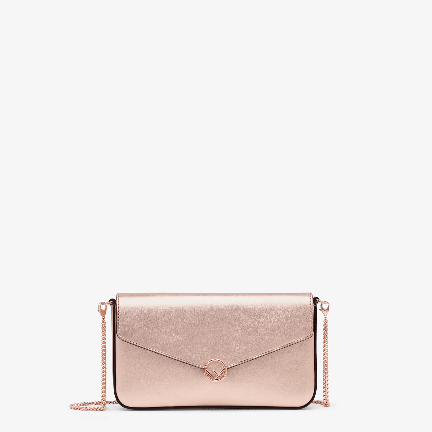 FENDI WALLET ON CHAIN WITH POUCHES - Pink leather mini-bag - view 1 detail