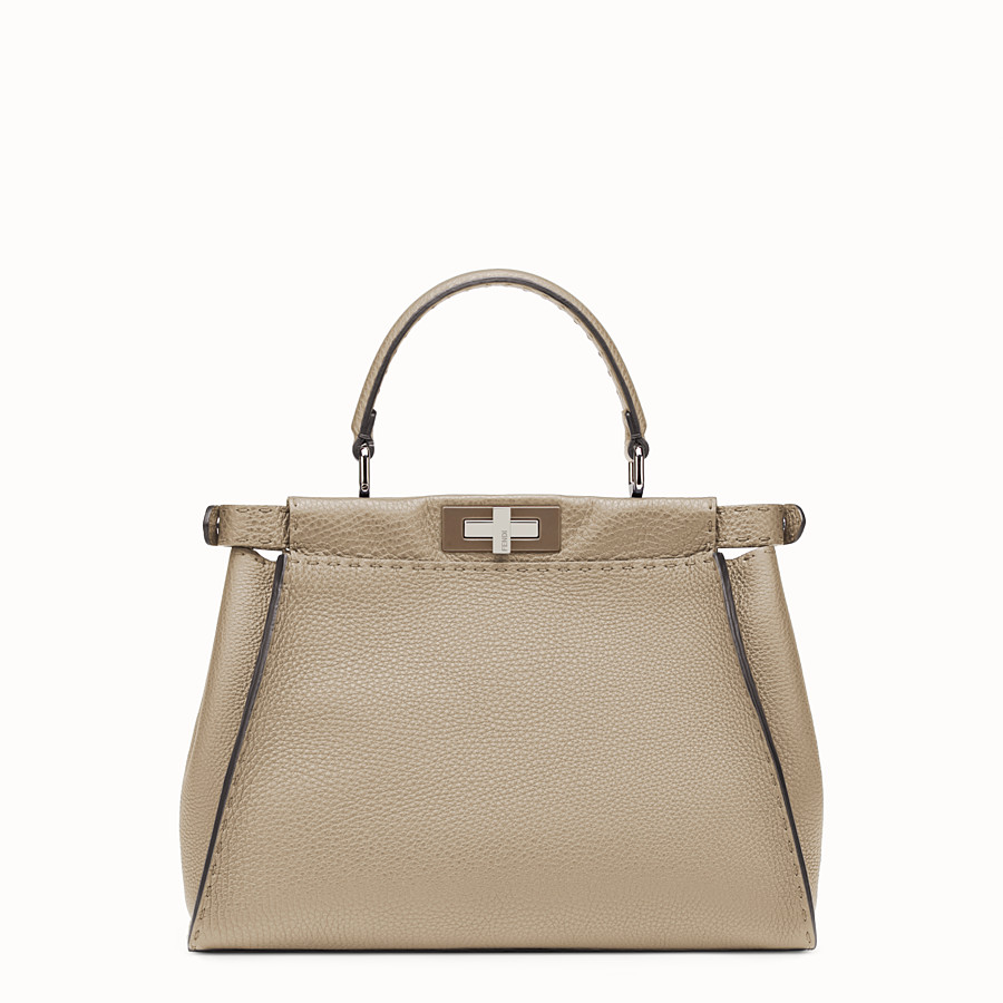 FENDI REGULAR PEEKABOO - Beige Selleria handbag - view 3 detail