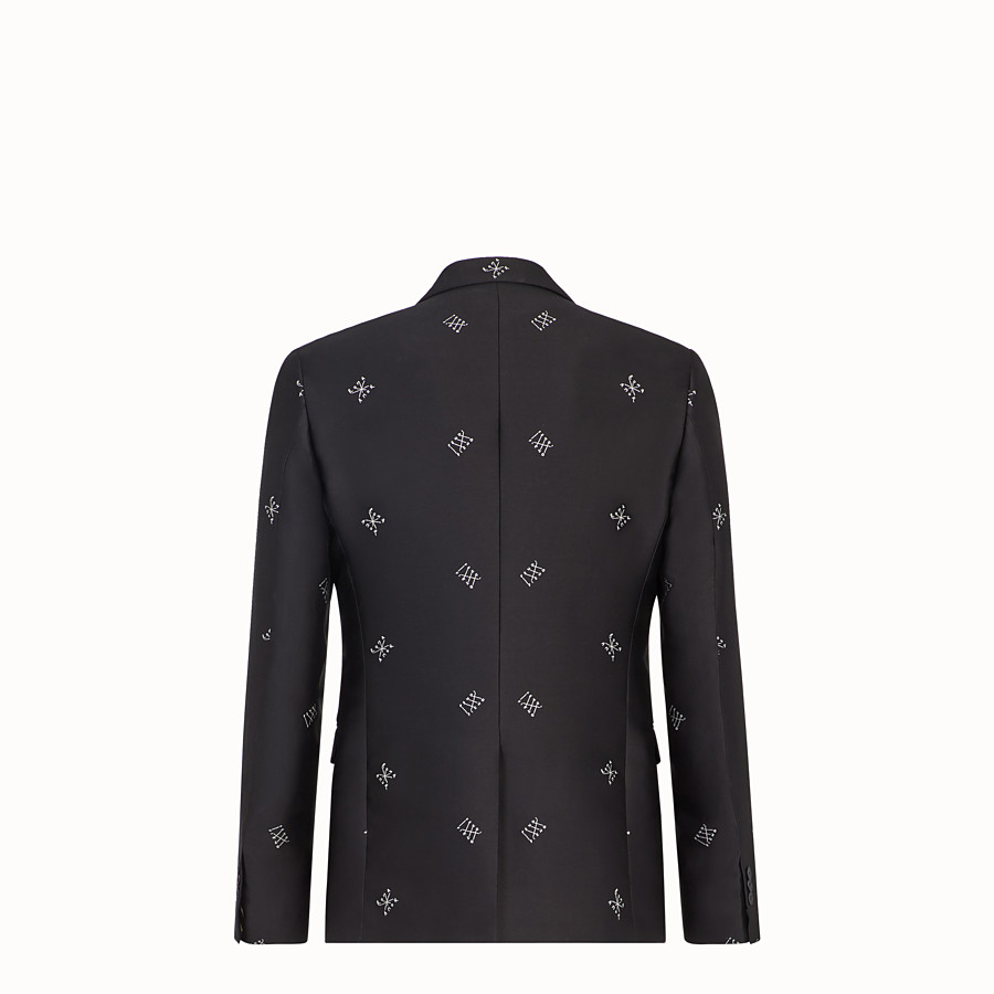 FENDI JACKET - Black silk blazer - view 2 detail