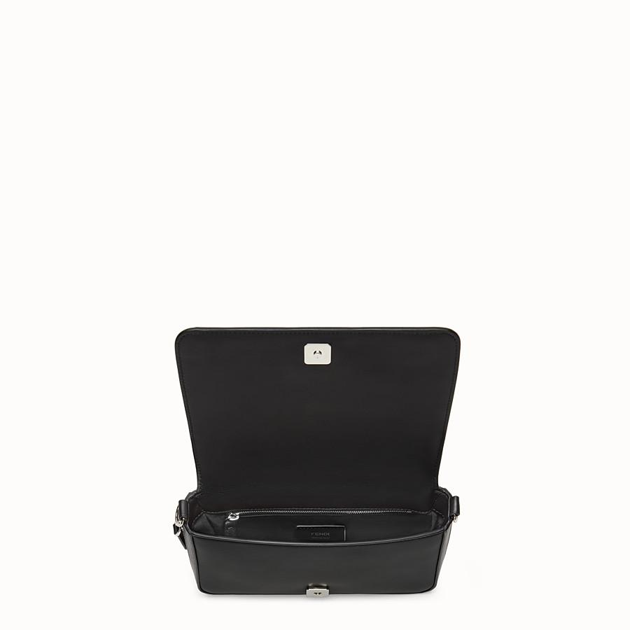 FENDI FLAP BAG - Black nappa leather bag - view 5 detail
